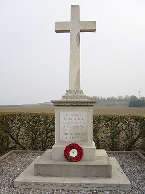 Leicester Town Rifles - 46th Division memorial at Vermelles, starting point for the division's attack on 13 October 1915