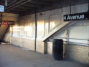 National Register of Historic Places listings in Brooklyn - Image: 4 Ave F NYC Subway Station by David Shankbone