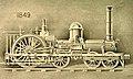 6-2-0 Crampton locomotive, 1849, first Crampton built in America. Locomotive Engineering, X-4, April 1897, New York, p. 287 – Enhanced.jpg