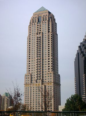 Four Seasons Hotel Atlanta - The Four Seasons Hotel occupies the lower third of the GLG Grand building.