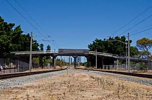 Seventh Avenue Bridge - View of the Seventh Avenue Bridge from Maylands railway station