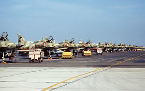 Gulf War - Kuwait Air Force McDonnell Douglas A-4KU Skyhawk ground-attack aircraft