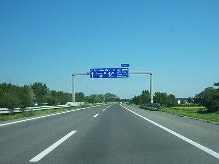 The A3 at the Eisenstadt junction