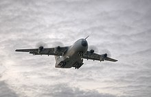 An A400M flying