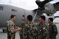 AAF students listening to a member of the Royal Air Force in 2011