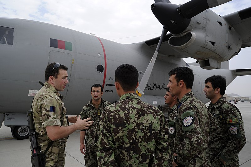 AAF students listening to a member of the Royal Air Force in 2011.jpg