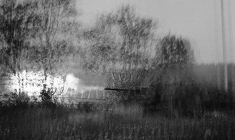 AA gun firing