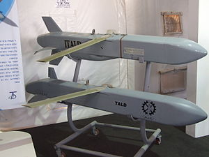 ADM-141 TALD and ADM-141C ITALD decoy missiles on display.jpg