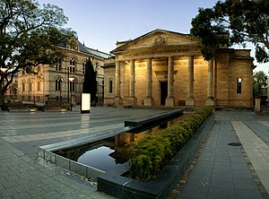 The Art Gallery of South Australia from North Terrace.