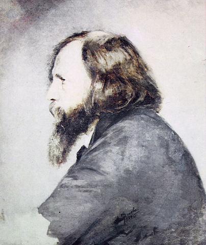 А.И.Менделеева. Портрет Д.И.Менделеева. 1885. Не закончен