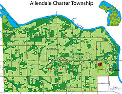 Map of Allendale Charter Township.