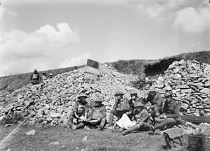 38th Battalion (Australia) - Headquarters staff from the 38th Battalion around Bray, in the Somme Valley, 26 August 1918.
