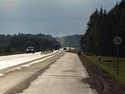 A 16 road in Lithuania.JPG