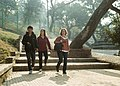 A Male guide with two woman tourist during Pashupati Temple Sightseeing-6973.jpg