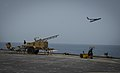 A ScanEagle unmanned aerial vehicle is launched from the flight deck of the afloat forward staging base USS Ponce (AFSB(I) 15) in the Persian Gulf May 13, 2013, during International Mine Countermeasures Exercise 130513-N-PX130-036.jpg