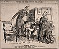 A doctor checking on his convalescing patient. Wood engravin Wellcome V0011462.jpg