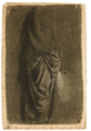 A drapery study traditionally attributed to Leonardo da Vinci but later believed to come from Andrea del Verrocchio's workshop.webp