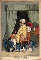 A man suffering from gout; represented by a group of blue de Wellcome V0011139.jpg
