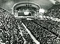 A portion of the overflow crowd of more than 20,000 that packed Cleveland, Ohio's Public Auditorium to hear President Roosevelt deliver his final campaign speech for re-election. November 3, 1940 (8122644924) (cropped).jpg