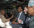 A tour of the streets of Mogadishu with Somali President Abdullahi Yusuf Ahmed and Prime Minister Ali Mohamed Gedi, an armored car belonging to the African peacekeeping forces on the way to attend a meeting of the interim government.jpg