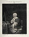 A woman at her toilet. Engraving after F. Mieris. Wellcome V0019911.jpg