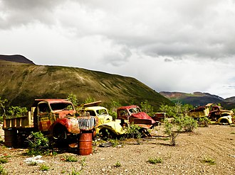Canol Heritage Trail - Image: Abandoned trucks on the Canol Heritage Trail