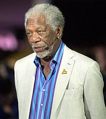 Academy Award-winning actor Morgan Freeman narrates for the opening ceremony (26904746425) (cropped).jpg