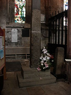 Acca of Hexham - Remnant of cross that stood at Acca's grave, Hexham Abbey