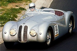 "Adolf Brudes - Adolf Brudes in a BMW 328 ""Mille Miglia"" at Nürburgring in 1976."