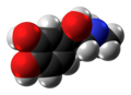 Adrenaline molecule spacefill from xtal.png