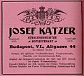 Advertisement Furrier Josef Katzer, Budapest (1902).jpg