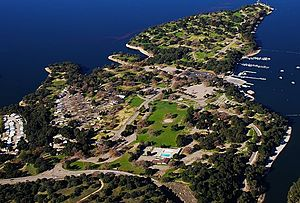 Lake Cachuma - Image: Aerial Lake Cachuma Campground