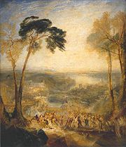 Phryne Going to the Public Baths as Venus and Demosthenes Taunted by Aeschines by J. M. W. Turner (1838).