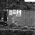 Affiches van de CPN, PvdA en de Regionale Volkspartij Hoogland op een aanplakbor, Bestanddeelnr 926-8049.jpg