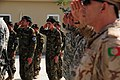Afghan Air Force members observe a change of command ceremony at Kabul International Airport.jpg