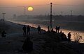 Afghan Troops Set Up Security on a Road as the Sun Sets in Helmand MOD 45152179.jpg