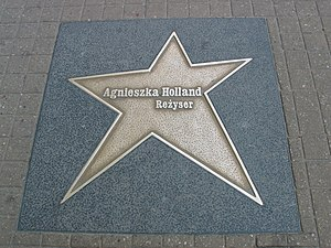 Agnieszka Holland - Star to honor Agnieszka Holland in Łódź