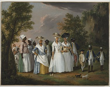 Free Women of Color with Their Children and Servants in a Landscape, ca. 1770-1796. Brooklyn Museum. Agostino Brunias - Free Women of Color with their Children and Servants in a Landscape - Google Art Project.jpg