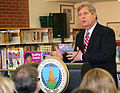 Agriculture Secretary Tom Vilsack outlines USDA efforts to raise a healthier generation of Americans and highlights efforts to improve school meals during his visit to the Henry A. Wolcott Elementary School.jpg
