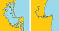 Ahuriri Lagoon map before after 1931 Hawke's Bay earthquake crude.png