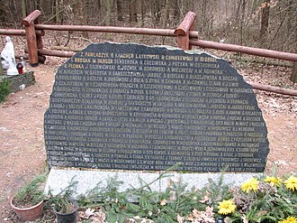Kabaty Woods - Monument to the victims of the 9 May 1987 crash of the airplane Tadeusz Kościuszko