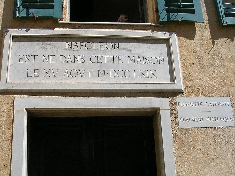 Ajaccio Maison de naissance de Napoléon