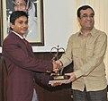 Ajay Maken presenting the Arjuna Award for the year 2011 to Shri Ashish Kumar, the award was conferred by the President of India, in New Delhi on September 06, 2011.jpg