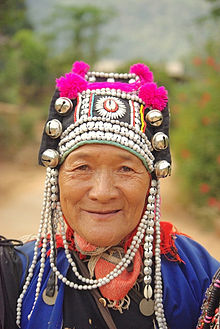 Akha woman in Headdress
