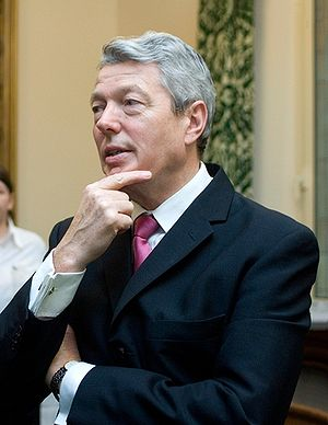 English: Alan Johnson, British Labour Party po...
