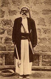 Alawite man in Latakia, early 20th century.