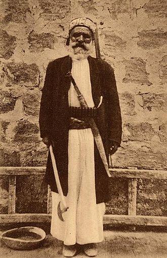 Alawites - Alawite man in Latakia, early 20th century