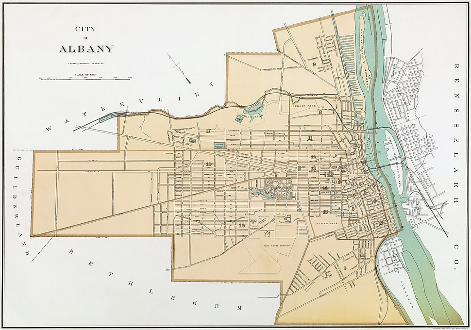 Albany New York 1895 Restored