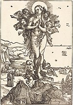 Albrecht Dürer, The Elevation of Saint Mary Magdalene, c. 1504-1505, NGA 6716.jpg
