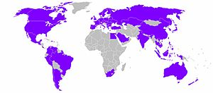 Alcatel-Lucent - World areas which Alcatel-Lucent serve.